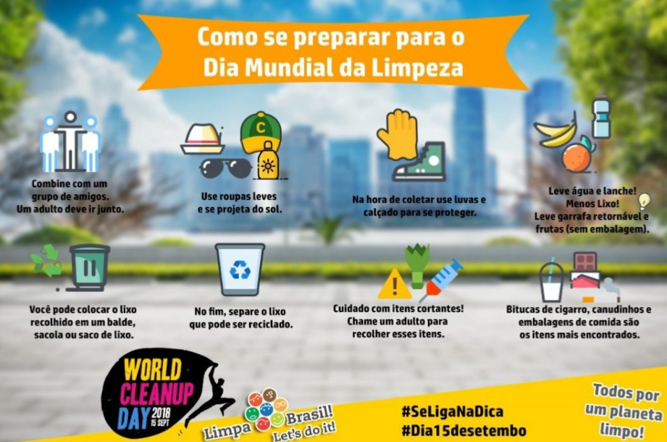 Prefeitura de Porto Nacional organiza diversas ações para o Dia Mundial da Limpeza que acontece de 10 a 15 de setembro 2